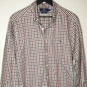 Vineyard Vines plaid tucker button down shirt
